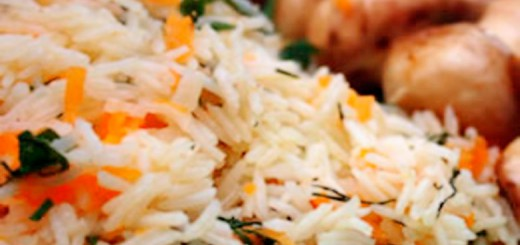 მოხარშული ბრინჯი სტაფილოთი