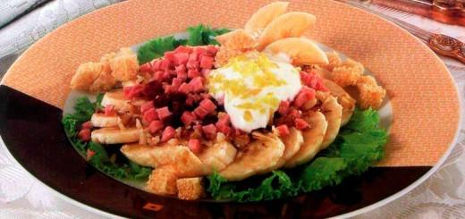 აფრიკული სალათი ბანანით